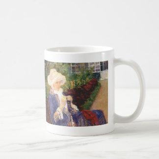 Mary Cassatt- Lydia crocheting in garden at marly Mug