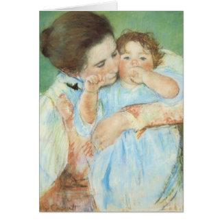 Mary Cassatt - madre y niño Tarjetón