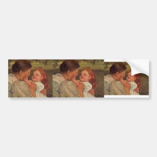 Mary Cassatt Maternal Caress Bumper Stickers
