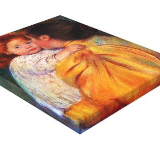 Mary Cassatt- Maternal Kiss Stretched Canvas Prints