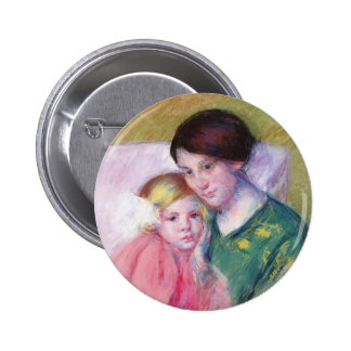 Mary Cassatt- Mother and Child Reading Pinback Button