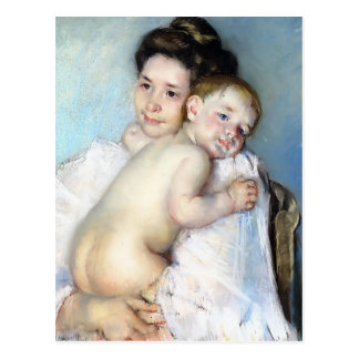 Mary Cassatt- Mother Berthe Holding Her Baby Postcard