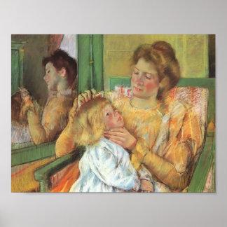Mary Cassatt- Mother Combing Her Child's Hair Poster