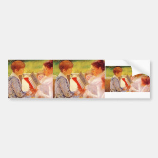 Mary Cassatt- Mrs Cassatt Reading to Grandchildren Car Bumper Sticker