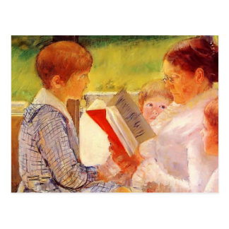 Mary Cassatt- Mrs Cassatt Reading to Grandchildren Postcard