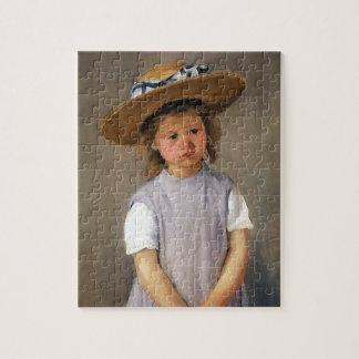 Mary Cassatt: Niño en un gorra de paja Rompecabeza Con Fotos