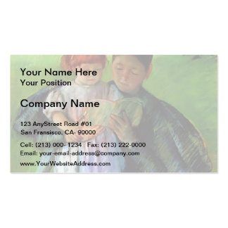 Mary Cassatt- Nurse Reading to a Little Girl Double-Sided Standard Business Cards (Pack Of 100)