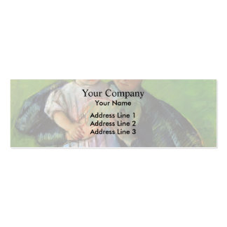 Mary Cassatt- Nurse Reading to a Little Girl Double-Sided Mini Business Cards (Pack Of 20)