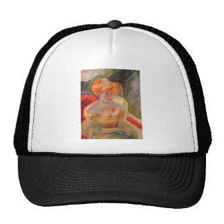 Mary Cassatt Painting Mesh Hat