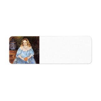 Mary Cassatt: Retrato de Margaret Milligan Sloan Etiqueta De Remite