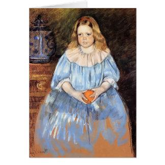 Mary Cassatt: Retrato de Margaret Milligan Sloan Felicitación
