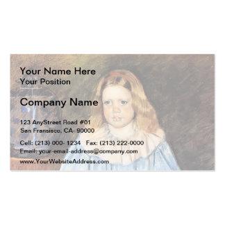 Mary Cassatt: Retrato de Margaret Milligan Sloan Plantillas De Tarjeta De Negocio