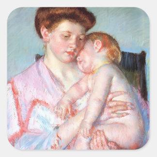 Mary Cassatt Sleepy Baby Sticker