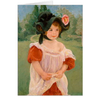 "Mary Cassatt ""Spring: Margot Standing in a Garden"" Card"