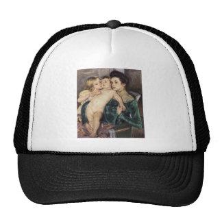 Mary Cassatt The Caress Mesh Hats