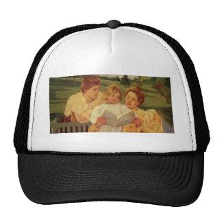 Mary Cassatt- The Gden Reading Mesh Hat