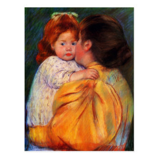Mary Cassatt - The Maternal Kiss 1896 Postcard