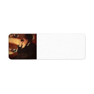 Mary Cassatt- The Opera Return Address Label