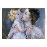 Mary Cassatt: Un beso para el bebé Anne (no. 3) Felicitación