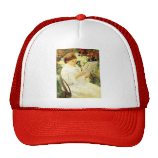 Mary Cassatt- Woman Reading in a Garden Trucker Hat