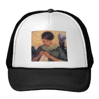 Mary Cassatt- Woman Sewing Trucker Hat