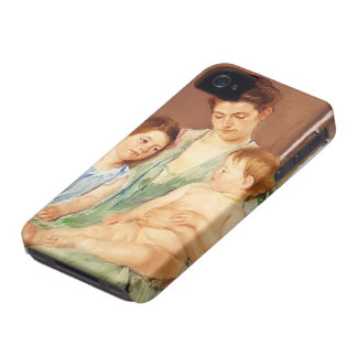 Mary Cassatt- Young Mother and Two Children iPhone 4 Covers
