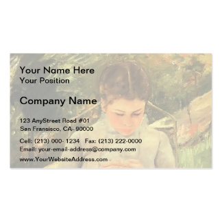 Mary Cassatt- Young Woman Sewing in the garden Business Card Template