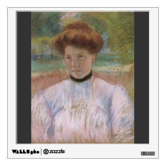 Mary Cassatt- Young Woman with Auburn Hair Room Stickers