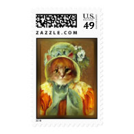 Mary Cassatt's Cat in Bonnet Postage