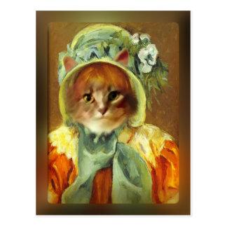 Mary Cassatt's Cat in Bonnet Postcards