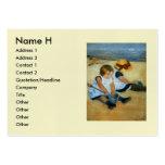 Mary Cassatt's Children on the Beach  (1884) Business Card Template