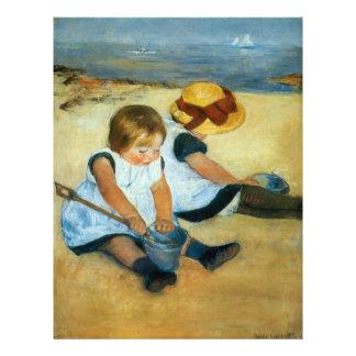 Mary Cassatt's Children on the Beach  (1884) Flyer