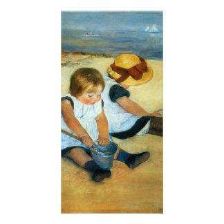 Mary Cassatt's Children on the Beach  (1884) Personalized Photo Card