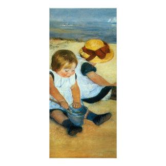Mary Cassatt's Children on the Beach  (1884) Rack Card