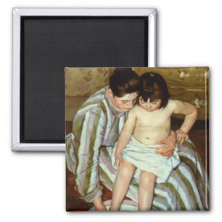 Mary Cassatt's The Child's Bath (circa 1892) 2 Inch Square Magnet
