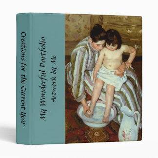 Mary Cassatt's The Child's Bath (circa 1892) 3 Ring Binder