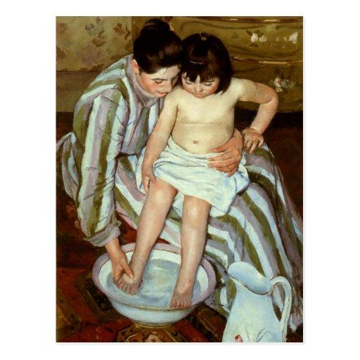 mary cassatts the childs bath circa 1892 postcard zazzle