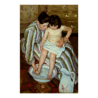 Mary Cassatt's The Child's Bath (circa 1892) Poster