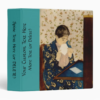 Mary Cassatt's The Letter (circa 1891) 3 Ring Binder
