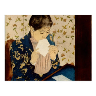 Mary Cassatt's The Letter (circa 1891) Postcard
