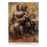Mary, Christ, St. Anne And St. John by Da Vinci Posters