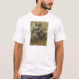 Mary, Christ, St. Anne, and St. John by Da Vinci T-Shirt