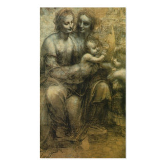 Mary, Christ, St. Anne, and St. John by Davinci Business Card