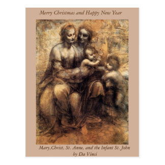 Mary, Christ, St. Anne and the Infant Stl John Postcard