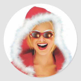"""Mary Christmas"" Classic Round Sticker"