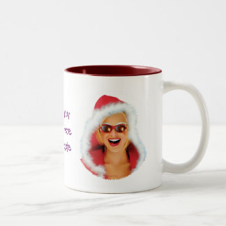 """Mary Christmas"" Two-Tone Coffee Mug"