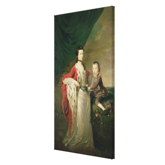 Mary, Countess of Shaftsbury and her Son Canvas Print