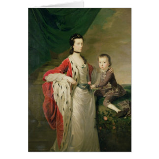 Mary, Countess of Shaftsbury and her Son Card