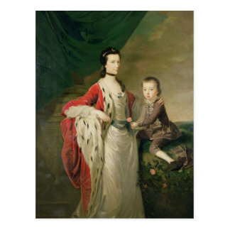 Mary, Countess of Shaftsbury and her Son Postcard