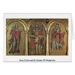 Mary Enthroned By Master Of Westphalia Greeting Card